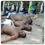 Photo des soldats gambien exécuté