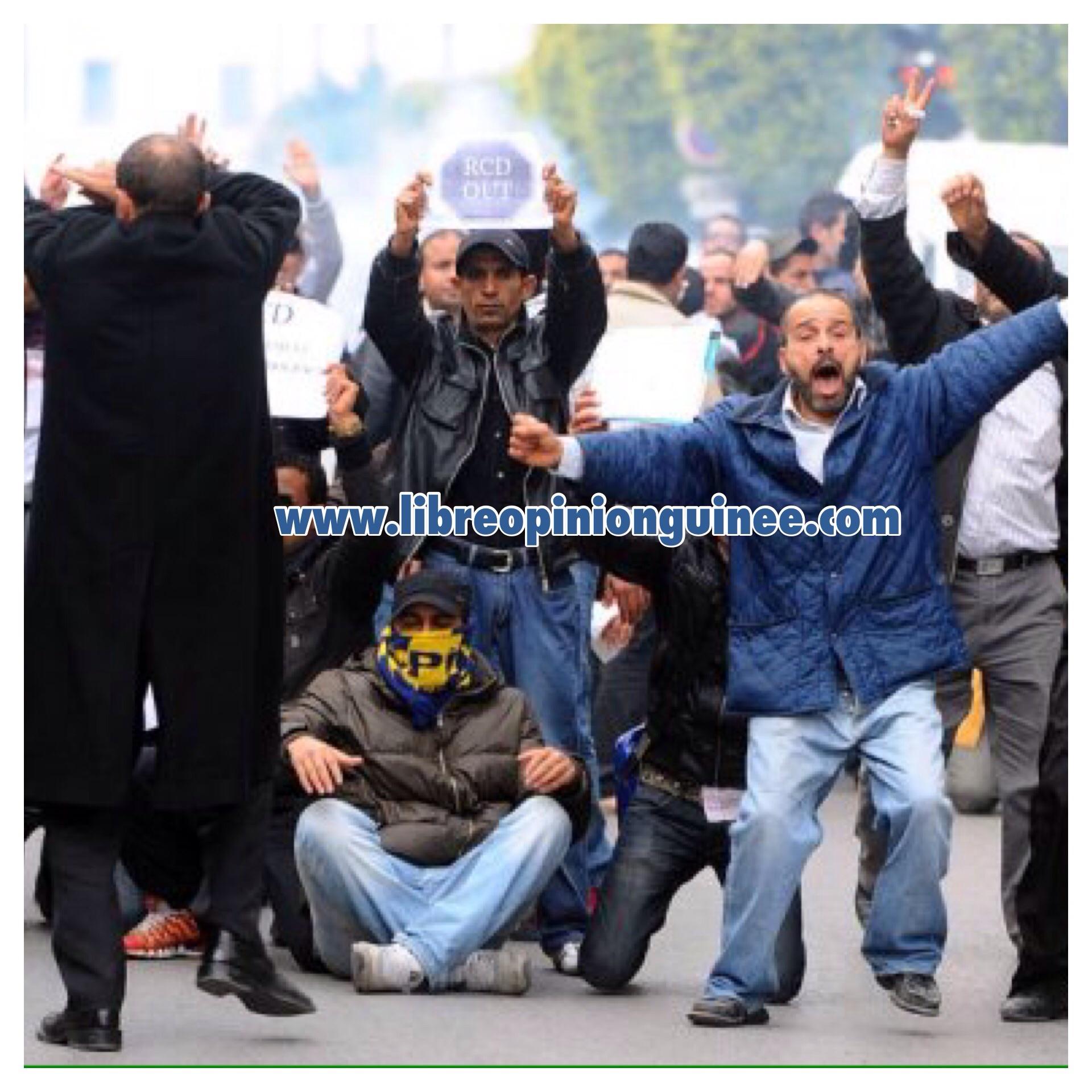 Photo manifestant Tunisie