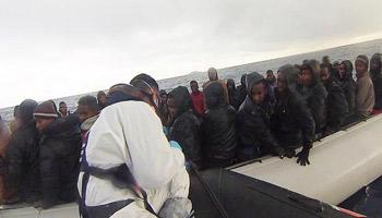 Méditerranée: afflux sans précédents de migrants en provenance de la Lybie