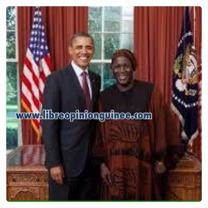 Photo blaise Cherif et Barrack Obama