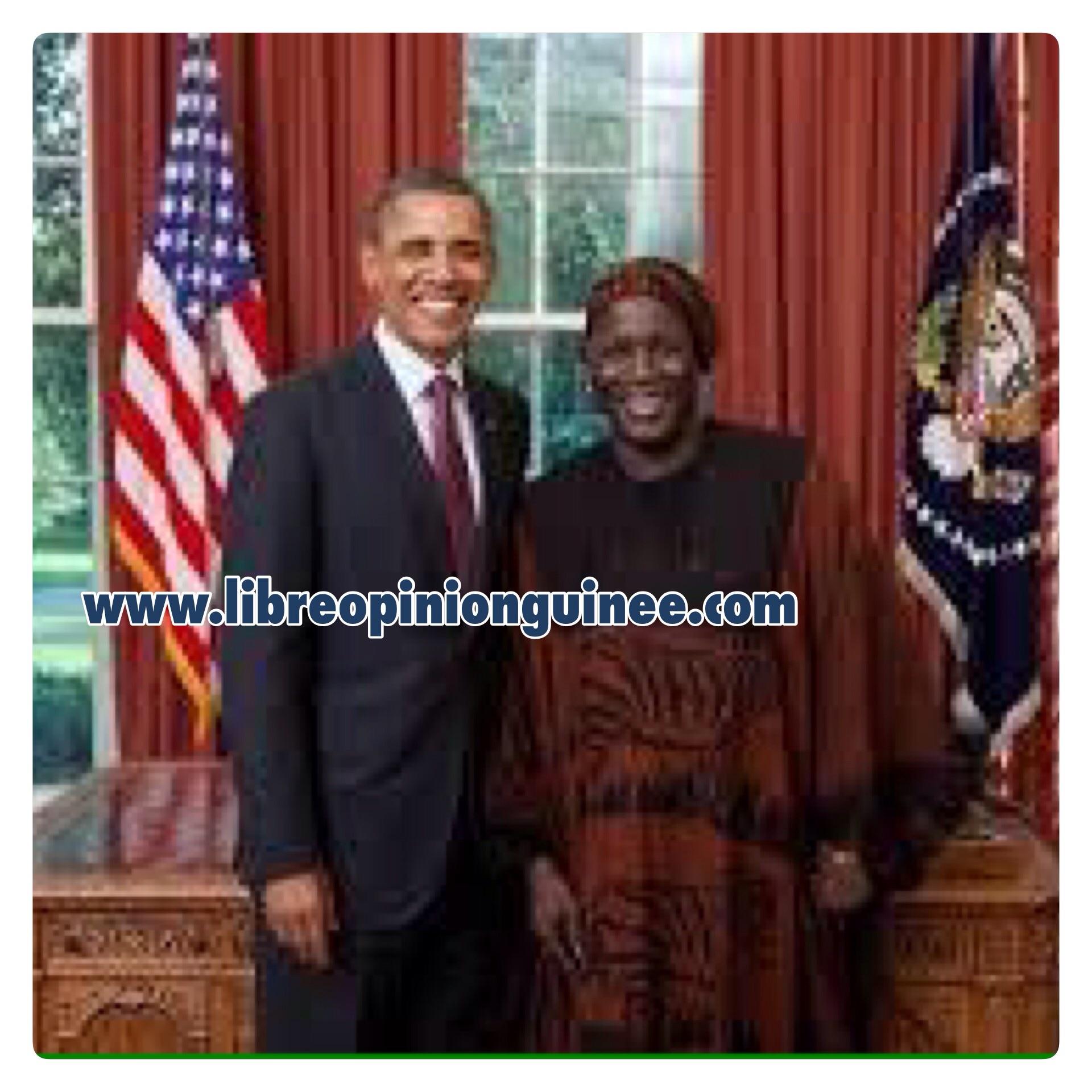Photo blaise Cherif et Barrack Obama