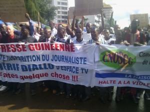 Manifestations des journalistes