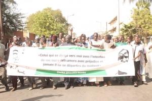 Marche contre jeune Afrique Senegal