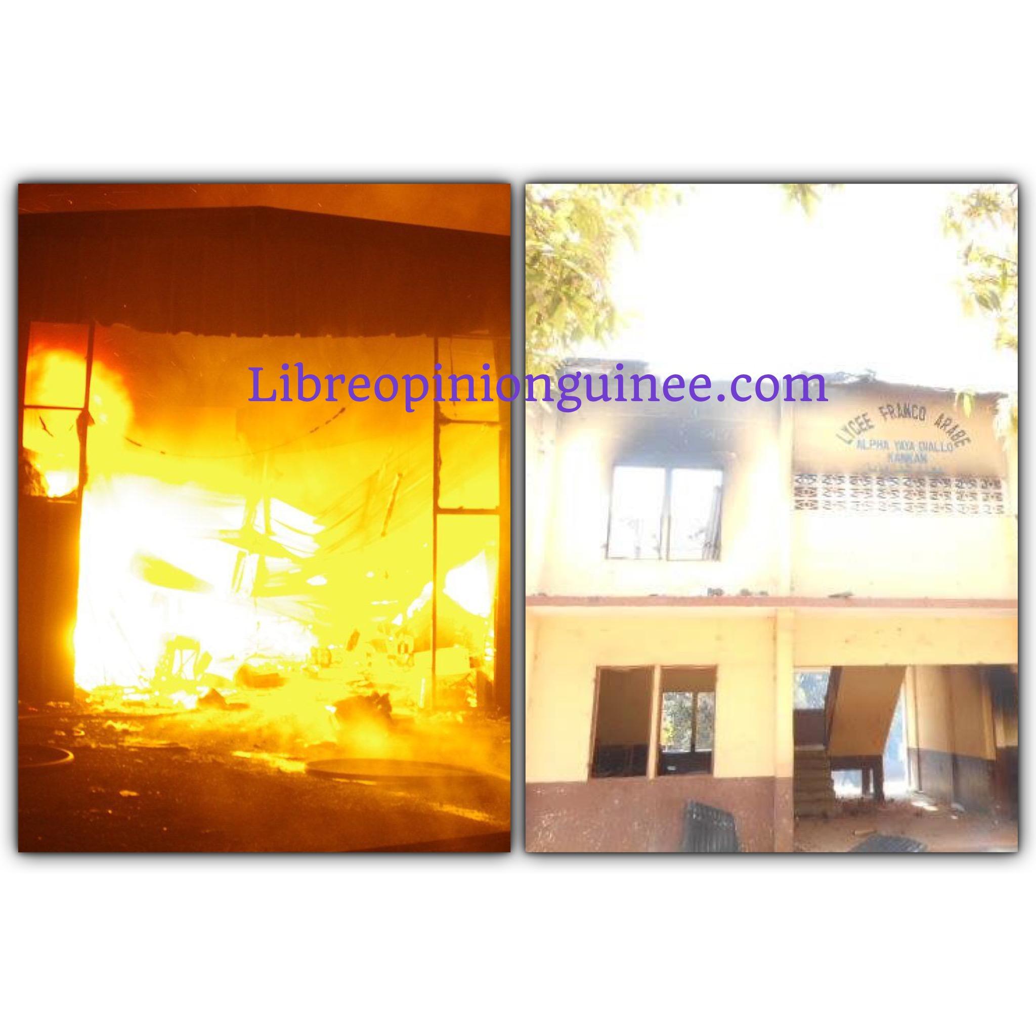 Incendie d'écoles à kankan