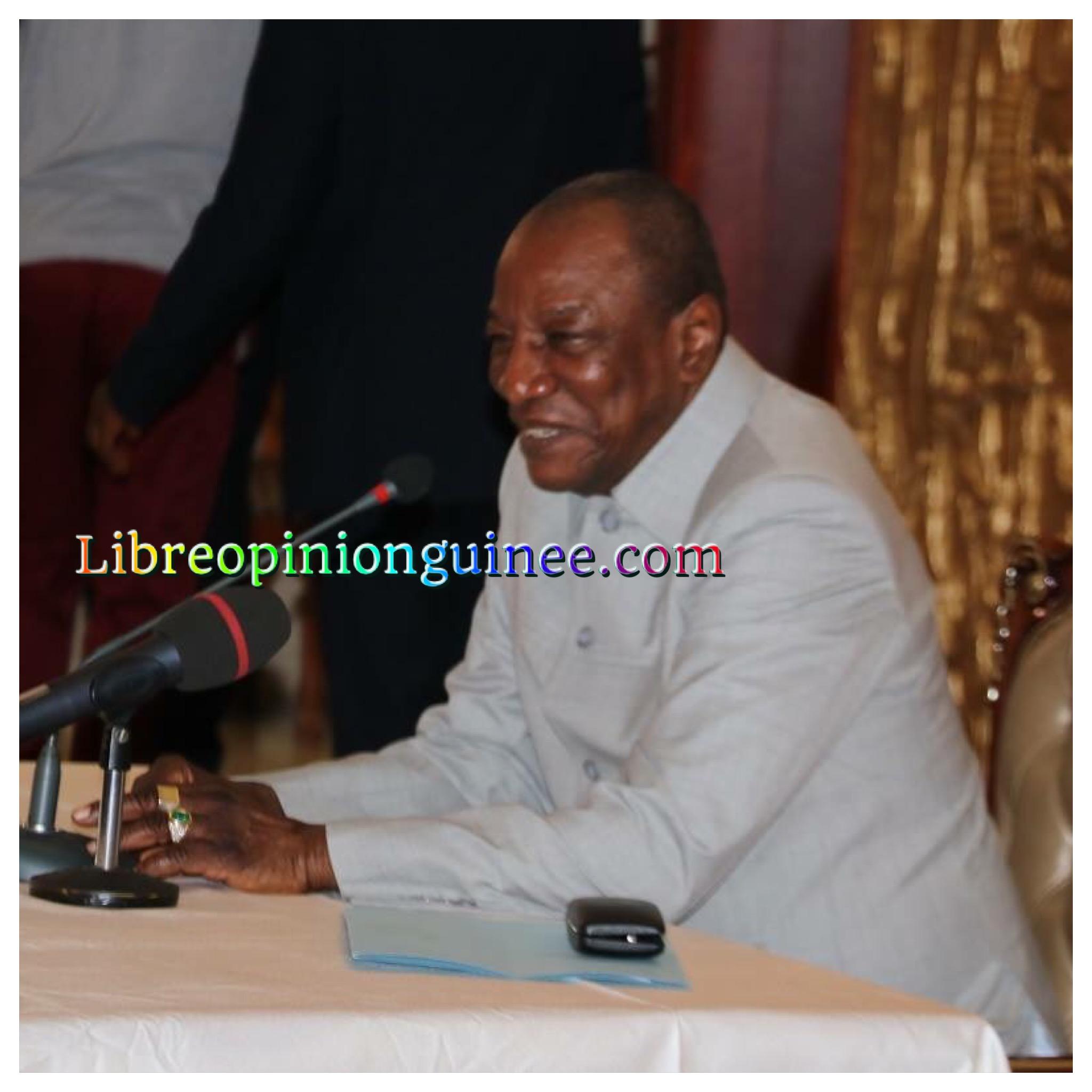 image Alpha Conde President de la Guinée Conakry