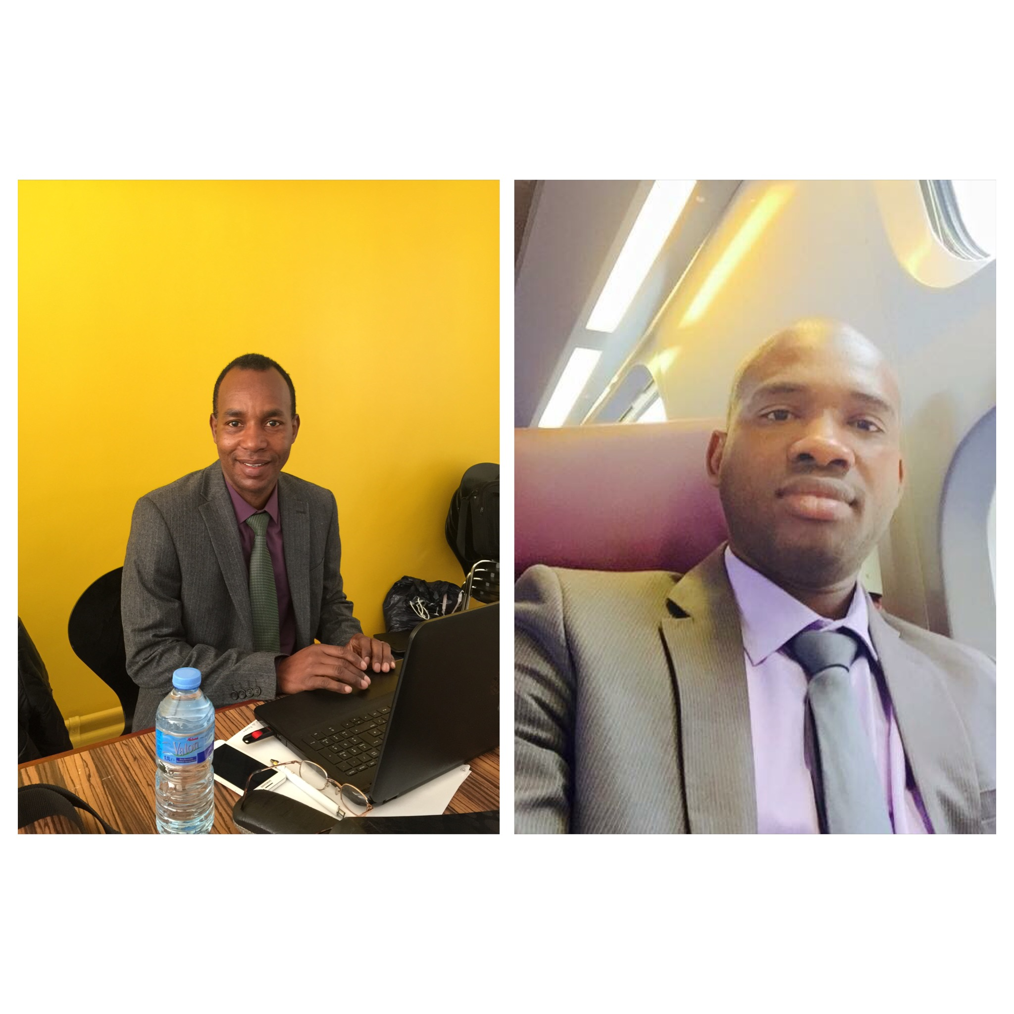Macka Balde vice President NFD et Alpha Souleymane Diallo nfd