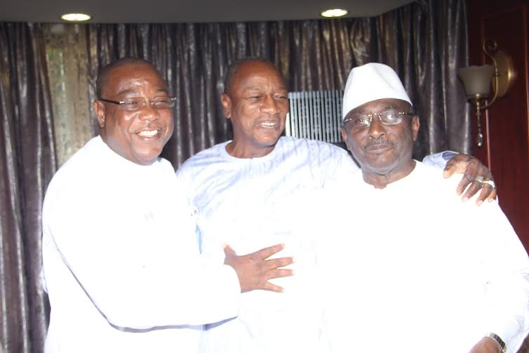 Sidya Toure, Alpha Conde et Baidy Aribot Guinée