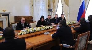 Alpha Conde et Vladimir Poutine