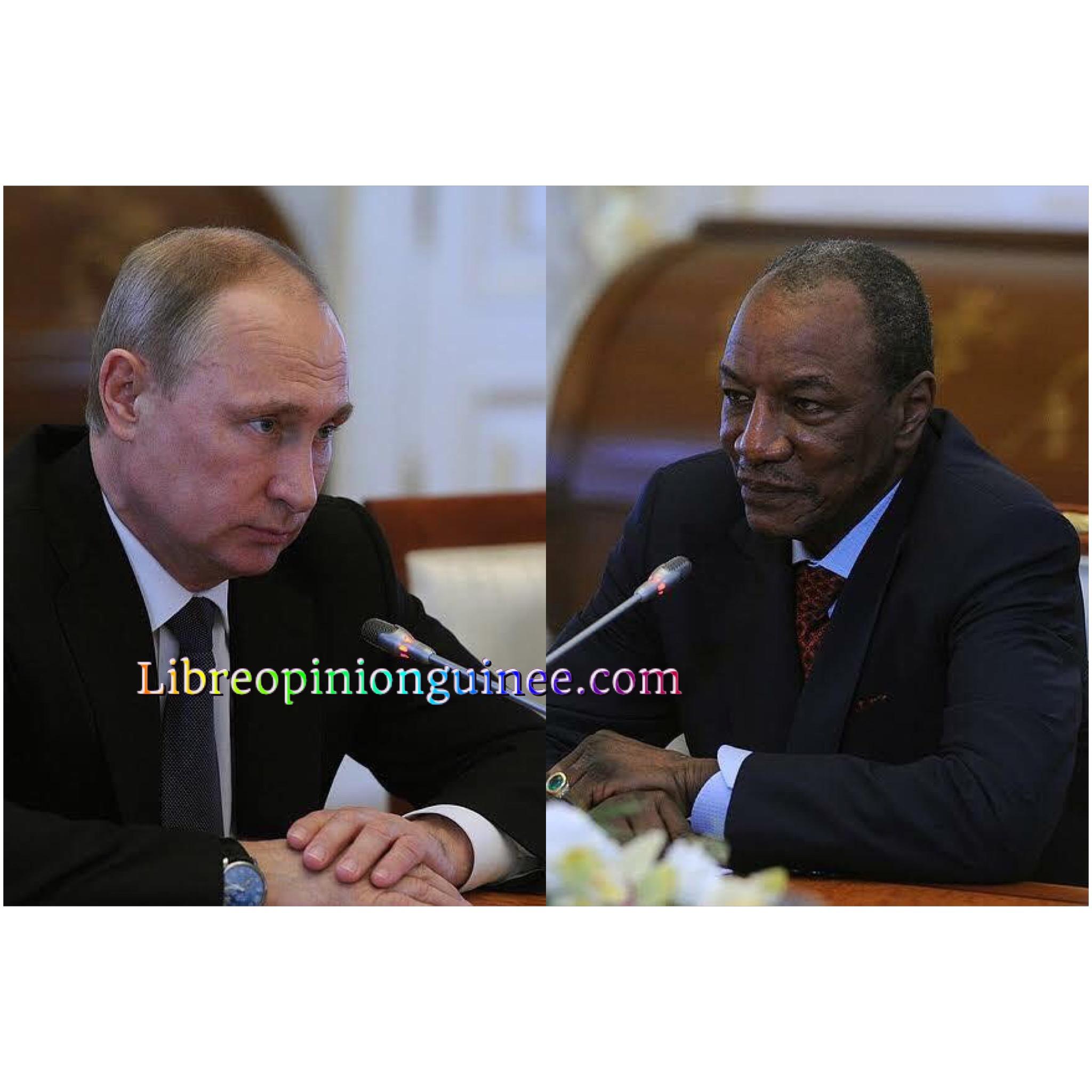 Vladimir Poutine et Alpha Conde
