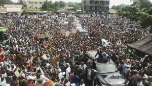Guinee, meeting de l'opposition à conakry, Daressalam