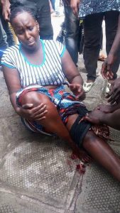 Femme blessée par balle