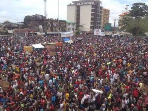 Manifestation de l'opposition guinéenne