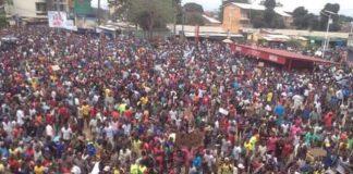 Mobilisation de l'opposition républicaine du 16 août 2016 conakry Guinee