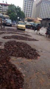 Conakry route dégradé