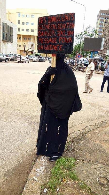 Femme voilée Guinee