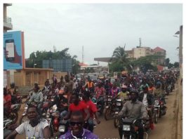 Grève des taxis motards conakry