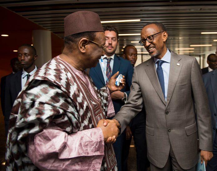 image Paul Kagamé Rwanda et Lansana Kouyate PEDN