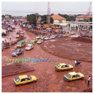Route dégradé conakry sonfonia
