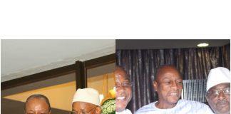 image Alpha Conde, Cellou Dalein, Sidya Toure et Baidy Aribot à sekhoutoureya