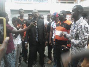 Les jeunes de l'axe soutiennent Mouctar Diallo