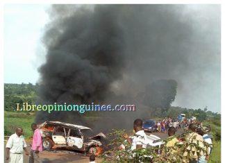 Accident de circulation à Dalaba Guinee