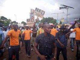 Meeting de NFD à Bambeto avec les jeunes de l'axe