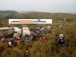 Route Conakry Kindia Bloquée à Labota