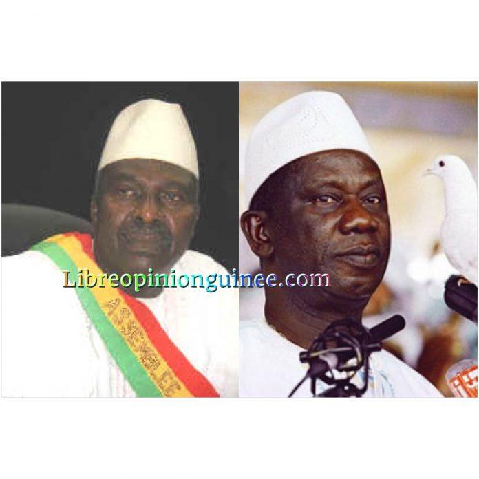 Aboubacar Somparé et Lansana Conté