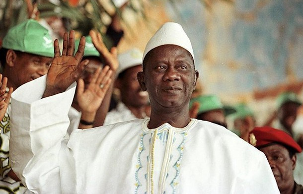 Lansana Conté ancien président de la Guinée