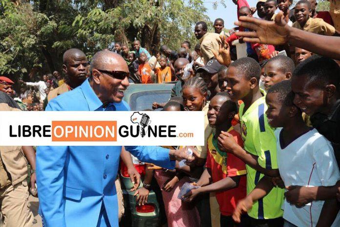 Alpha Condé président de la république de Guinée à Kindia