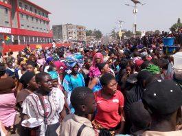 Marché de Conakry manifestations des femmes