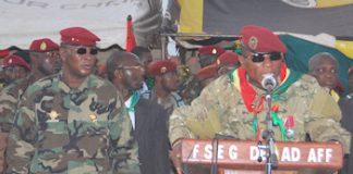 Sekouba Konaté et Moussa Dadis Camara