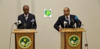 Alpha Conde et Ould Abdel Aziz à Bissau