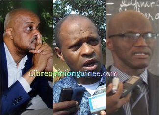 Damantang Albert Camara, Abdoulaye yéro Baldé et Ibrahima Kourouma