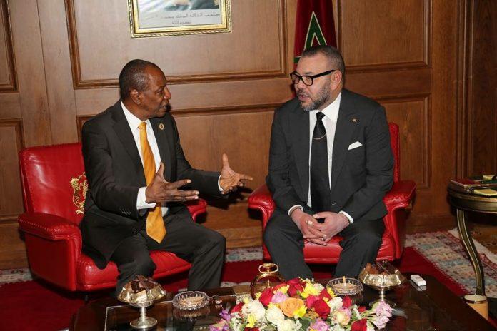 Alpha Conde et le roi Mohamed Vl
