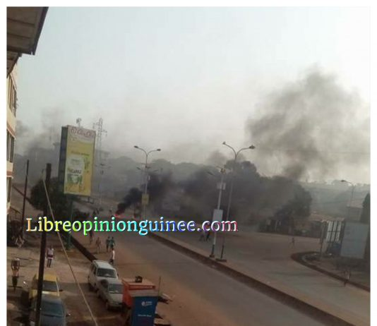 Manifestation à conakry Guinee