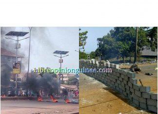 Manifestation en Guinee