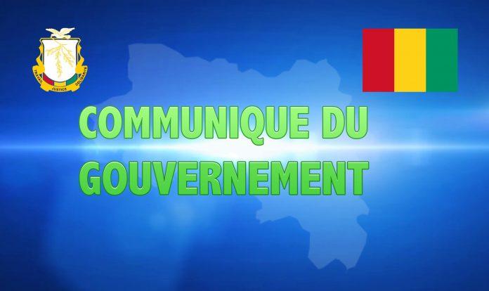 Communiqué du gouvernement Guinéen