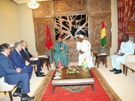 Alpha Conde et le Roi Mohamed Vl du Maroc