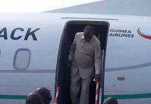 Alpha Condé à l'inauguration de la compagnie Guinea Airlines à Conakry