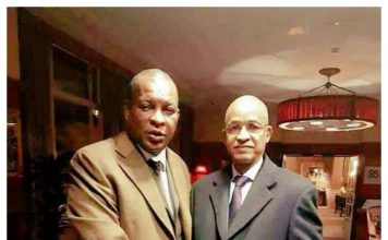 Sekouba Konaté ancien President de la transition Guinéenne et Cellou Dalein Diallo chef de file de l'opposition à Paris