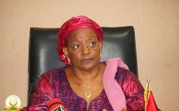 Mama kanny Diallo ministre de la COOPERATION Guinee