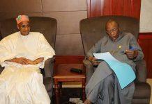 Alpha Conde et Cellou Dalein Diallo au palais sekhoutoureya