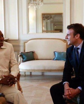 Alpha Condé avec Emmanuel Macron