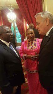 Sidya Touré, Makalé Camara et jean Mark Ayrault Élysée
