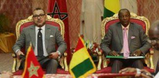 Alpha Conde et le Roi Mohamed Vl au Maroc