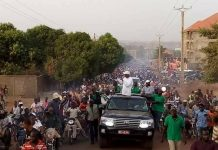 Cellou Dalein Diallo à Siguiri Guinée