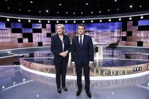 Débat présidentielle 2017 Macron et Marine Le Pen