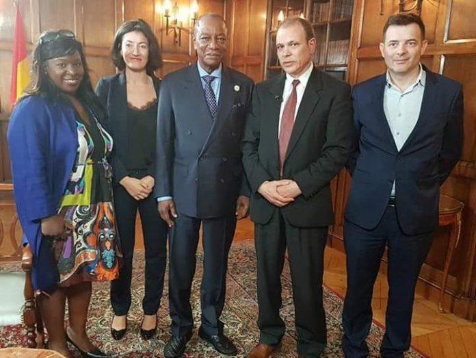 Patrick Emeriau, Fatima Kaloko, Philippe Tabuteau, Alpha Condé