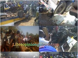 Accident de circulation à Dubreka Guinée